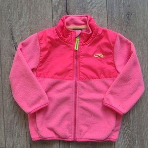 (2/$15) Champion Neon Orange Zip Jacket